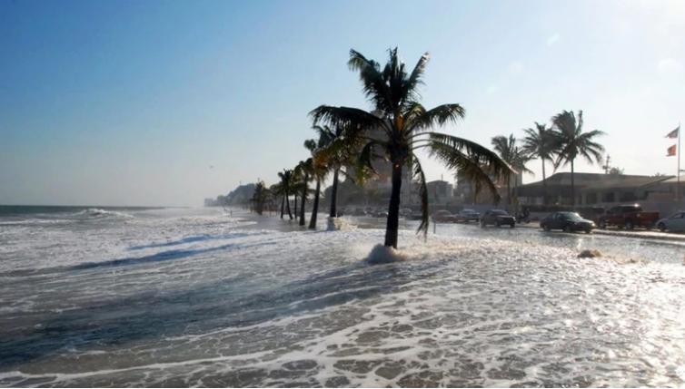 Imágen de aumento de agua en océanos